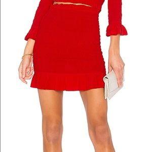 NWT LOVERS + FRIENDS Monaco Red skirt! size small